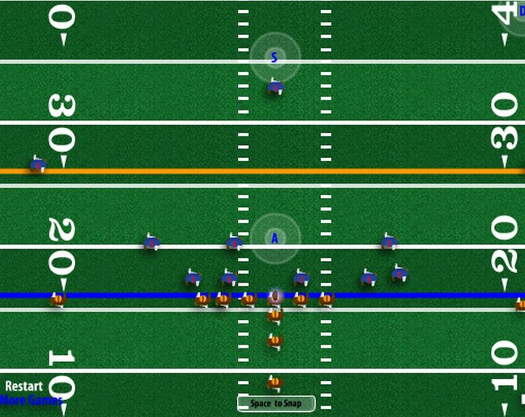 2016 version on 4th and Goal allows players to select their own team colors. Play American football so huddle up. You can select the opponent as well. Looking for a real challenge? Then play on Hall of Fame mode.