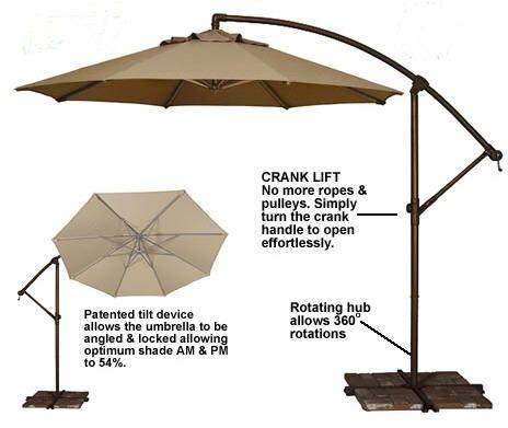 Tobago OFFSET UMBRELLA,Tobago Cantilever Umbrella