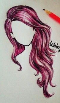 Tumblr girl drawing // debbyarts