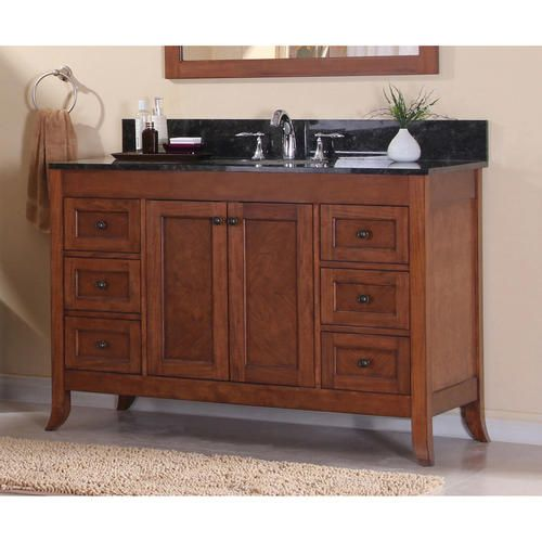 Magick woods 49 1 8 ashwell collection vanity base at - Menards bathroom vanities 48 inches ...