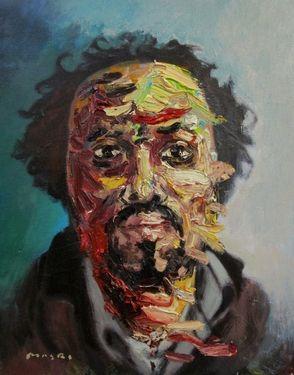 "Saatchi Online Artist Masri Hayssam; Painting, ""Self portrait -p#99"" #art"