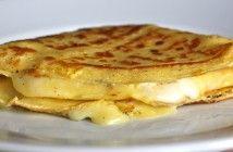 Franskar pönnukökur – Crepes með skinku og osti