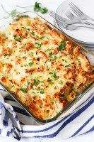 Creamy Tuna Pasta Bake - a classic meal that everyone loves - with mostly store-cupboard ingredients!