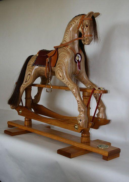 A Medium Size Laminated 'Rocky' Rocking Horse Plan 129