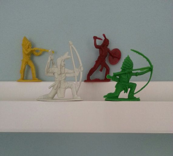 Retro Cowboy and Indian figures. Great vintage by PunchJunk, £5.00