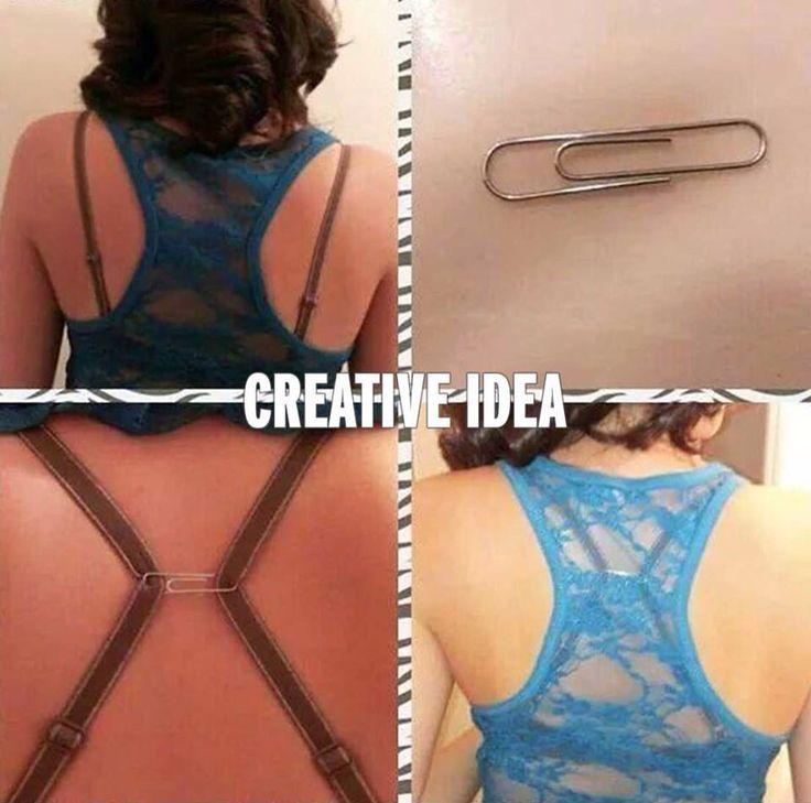 Simpele en vooral handige oplossing om eindelijk die bandjes te verbergen zonder een nieuwe bh te kopen!