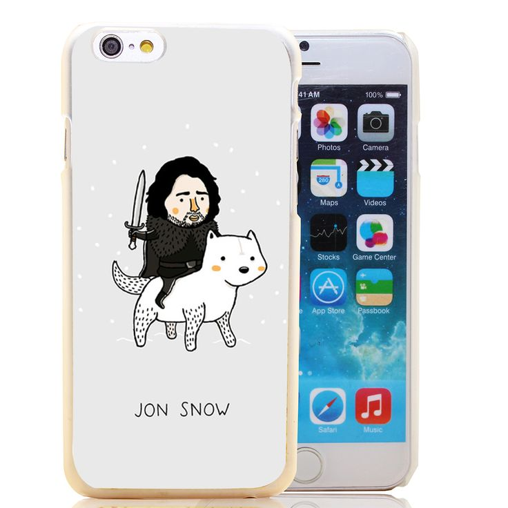 874-HOQE jon snow game of throne hellip Transparent Hard Case Cover for iPhone 6 6s plus 5 5s 5c 4 4s Phone Cases - Direwolf Shop Direwolf Shop