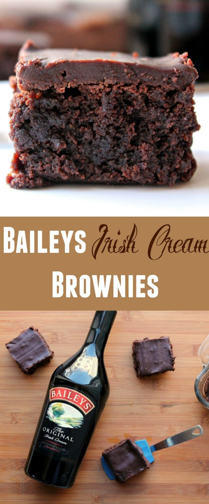 BAILEYS Irish Cream Brownies  - I've made these decadent fudgy brownies as easy as can be.  Just replace the water in your favorite box of fudge brownie mix.  Then the best part is the easy Baileys infused ganache topping!  Heavenly.  Don't even bother waiting until St. Patrick's Day for this treat!!!