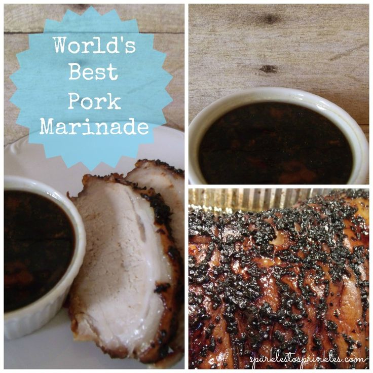 pork marinade collage