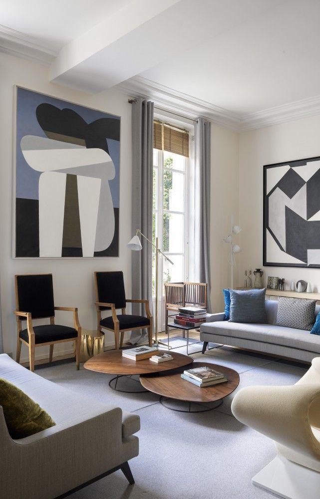 In Paris die Wohnung des Innenarchitekten Didier G…