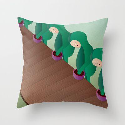 c a t e n a d i m o n t a g g i o Throw Pillow by Marco Puccini - $20.00