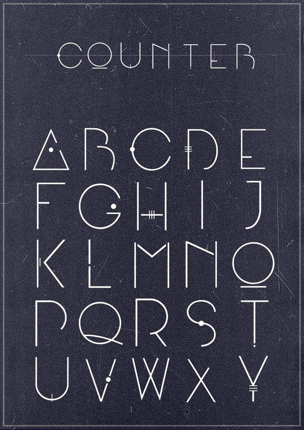 Counter font by Adam Švejda, via Behance