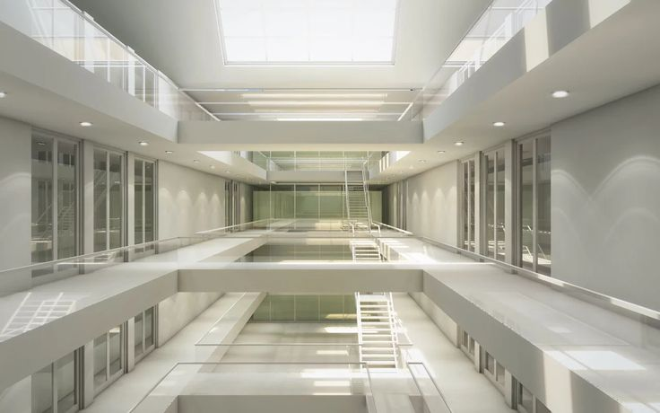 An insight into setting up light sources within an architectural scene.