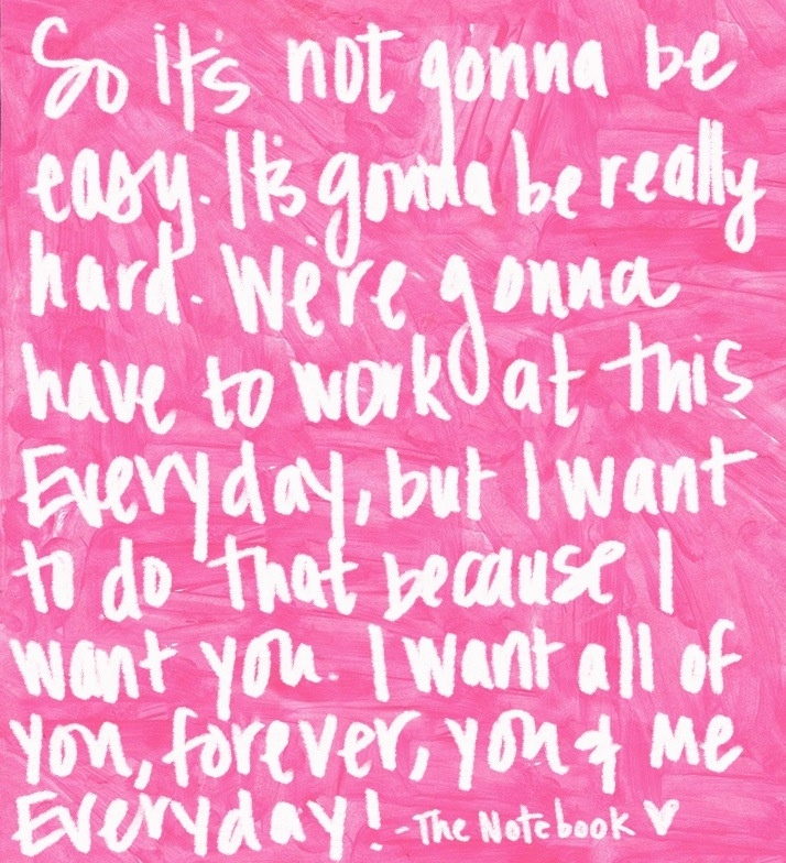 Simple And Sweet Love Quotes: SO...it's Not Going To Be Easy