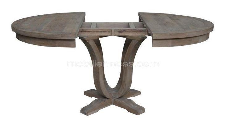 table bois massif rallonge cosy mobiliermoss helise ouverte
