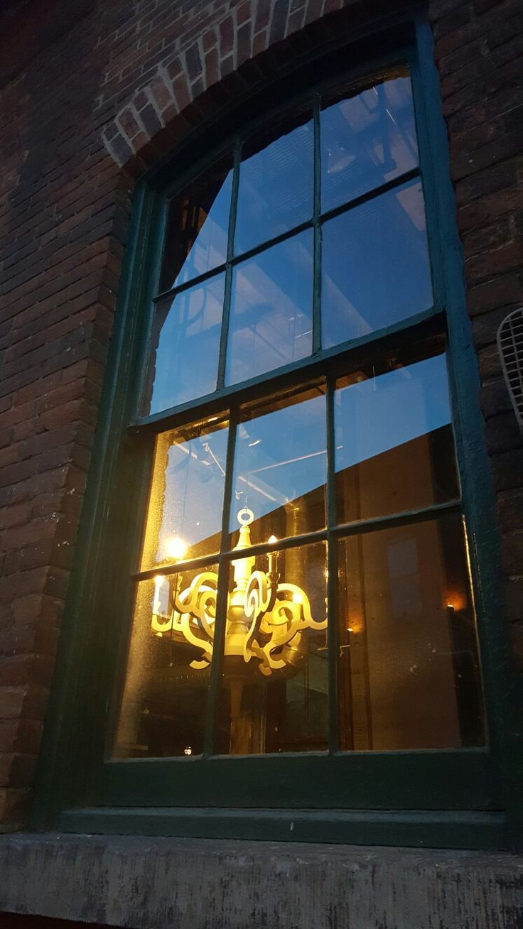 Looking through the window at Distillery District, Toronto