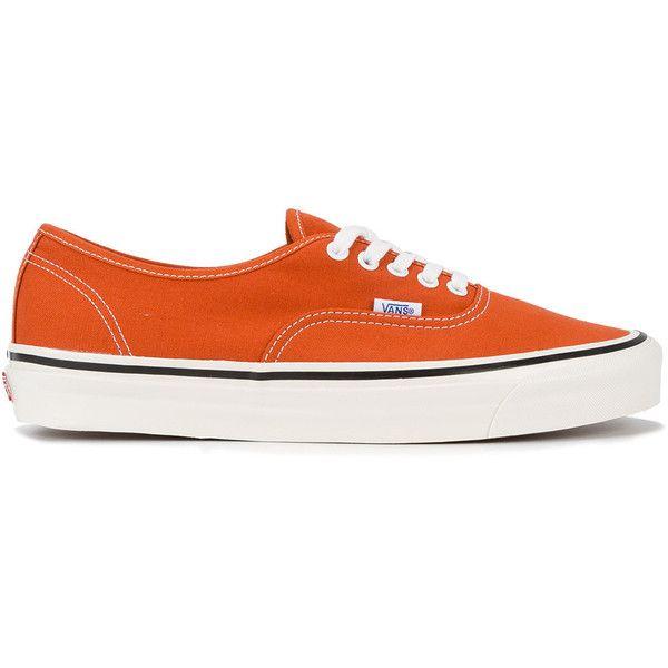 Vans Authentic 44 DX 'Anaheim' Trainers ($58) ❤ liked on Polyvore featuring men's fashion, men's shoes, men's sneakers, orange, vans mens shoes, mens orange sneakers and mens orange shoes