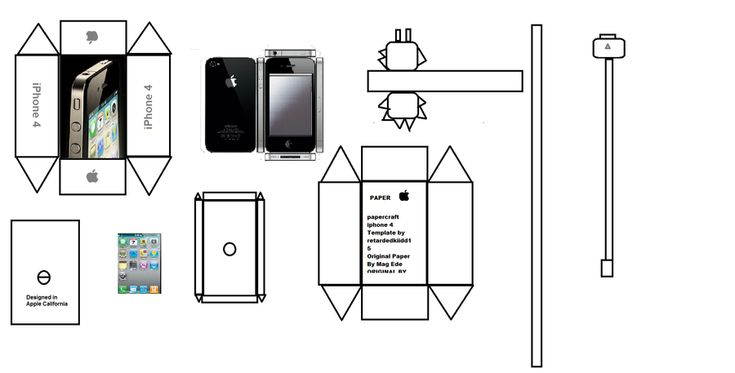 papercraft iphone 4 by paperkraft  download link for