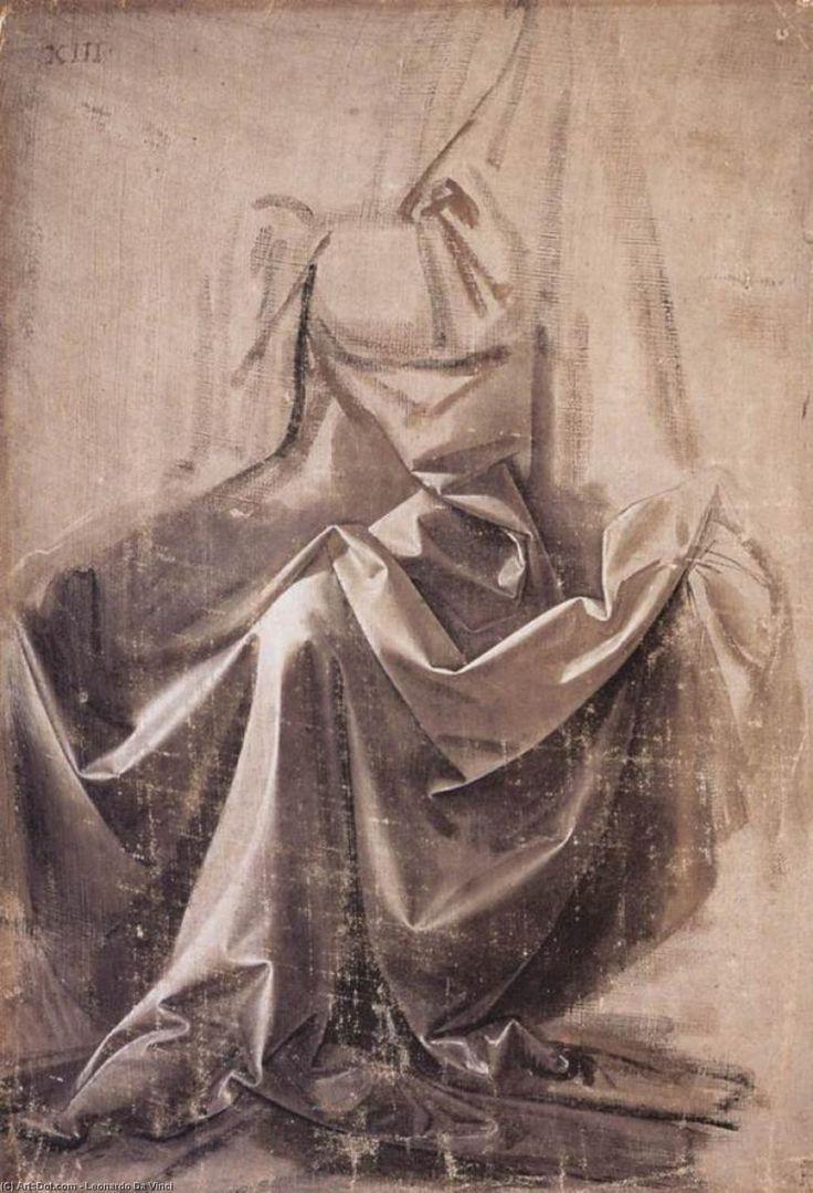 Leonardo Da Vinci-Draperie pour  une  Assis  chiffre