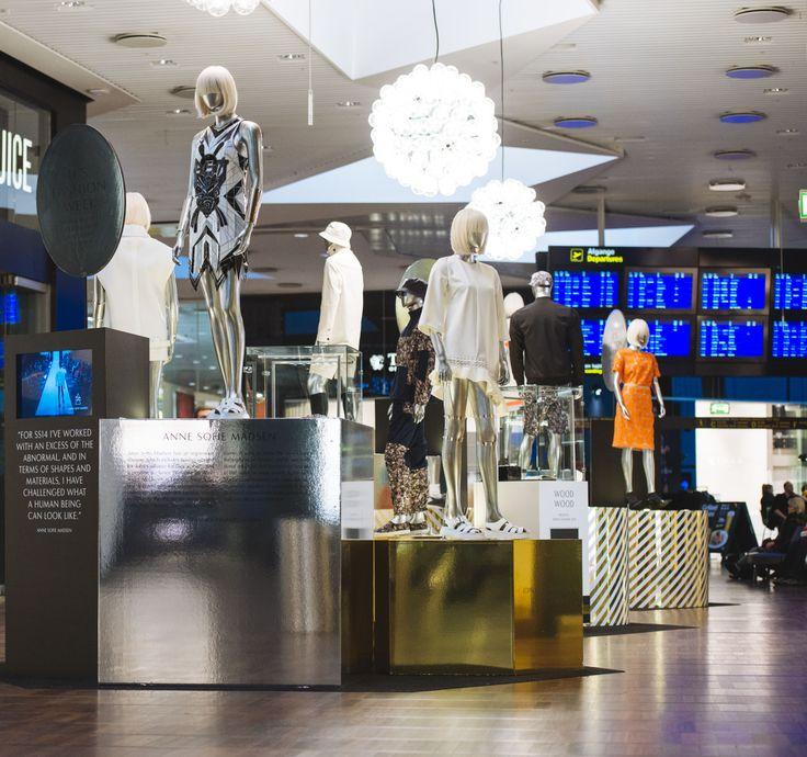 Anne Sofie Madsen's exhibition at Copenhagen Airport. #CPHstyle