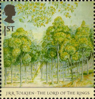 JRR Tolkien, stamp: Forests, Tolkien 1892, Literary Stamps, Reading Books, Middle Earth, Stamps Collection, Mail Art, Jrr Tolkien, Postage Stamps