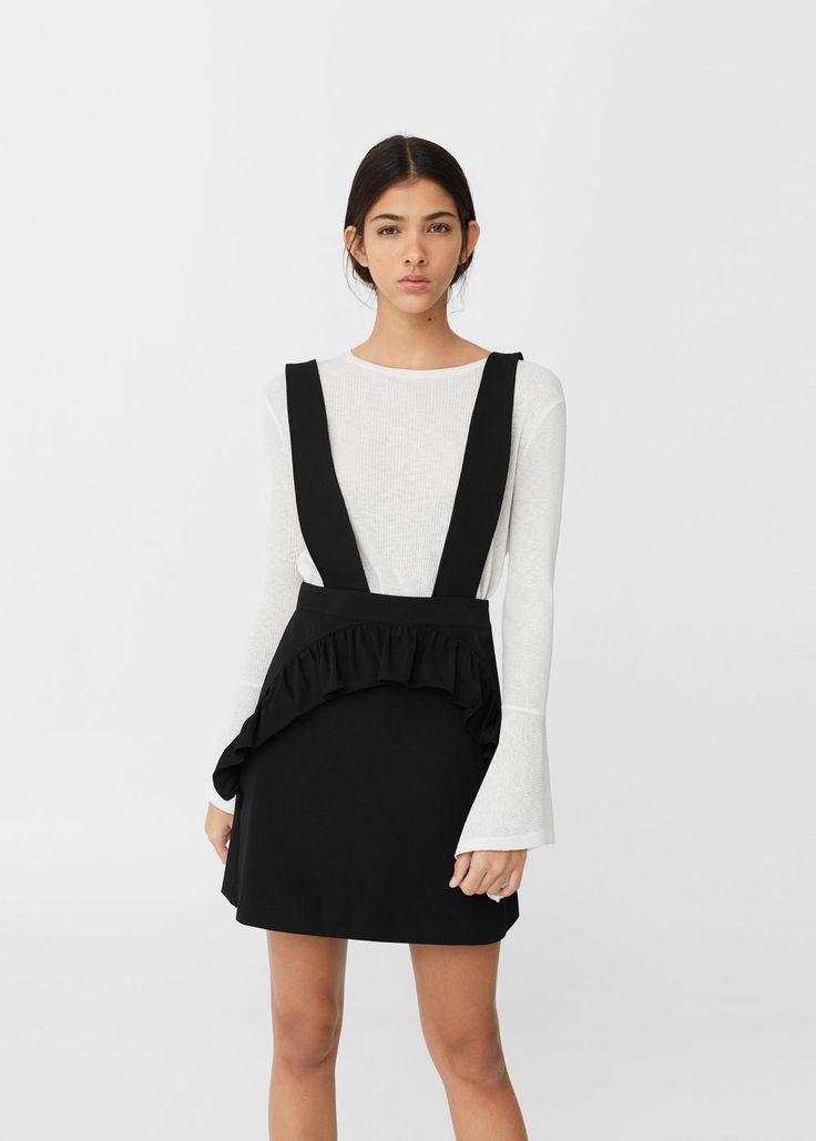 Ruffled pinafore dress | MANGO