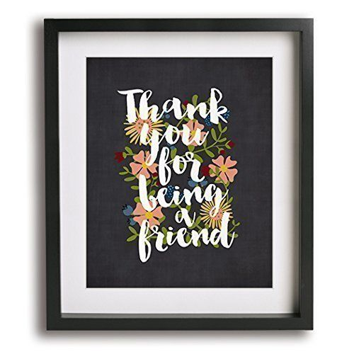 Thank You For Being A Friend inspired song lyric art print