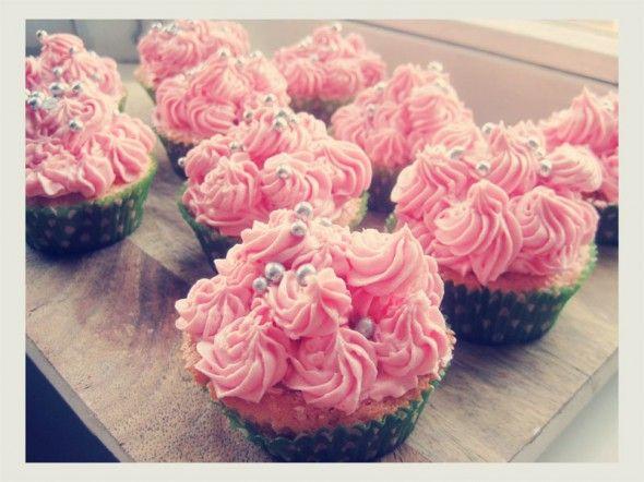 Roze cupcakes