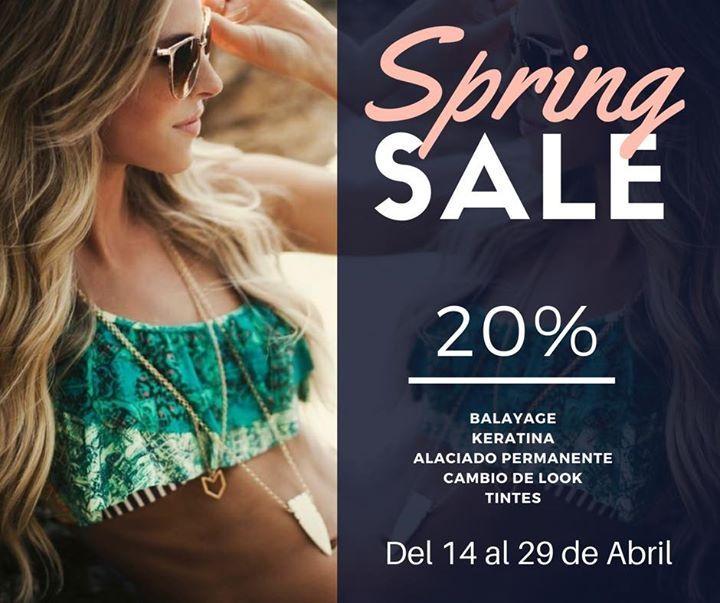 Spring sale especial  20% en los servicios de keratina alaciado permanente y cambios de look    Últimas Citas disponibles viernes 14 y sábado 15 de abril  Tel 362-4813