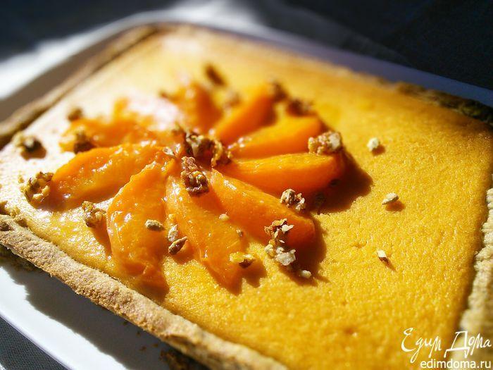 Ореховый тарт с персиковым курдом Вкусный летний вариант выпечки с фруктовой начинкой! #едимдома #готовимдома #рецепты #кулинария #выпечка #тарт #пирог #персики #абрикосы
