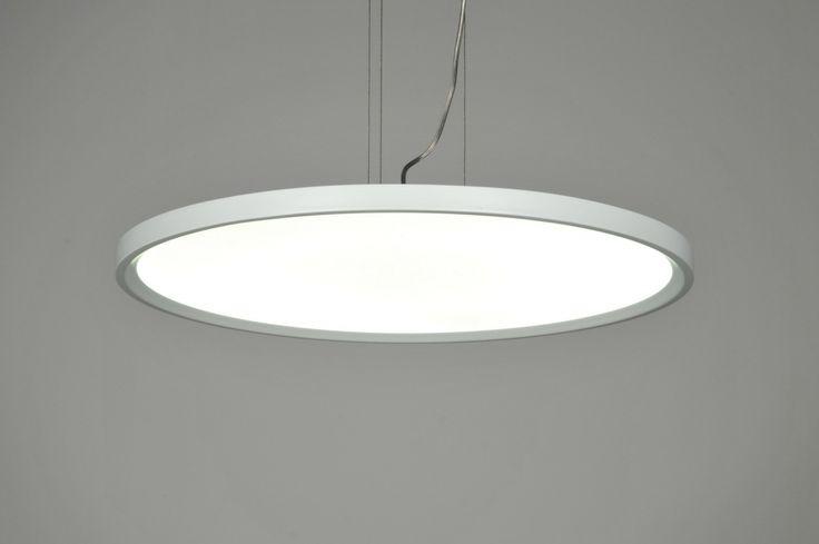 hanglamp 71176: modern, design, kunststof, metaal, wit, mat, rond ...
