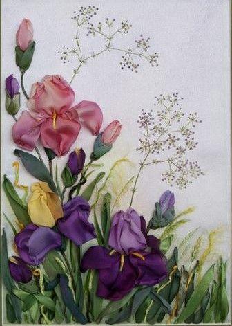 Silk ribbon embroidery by Ludmila Saenko