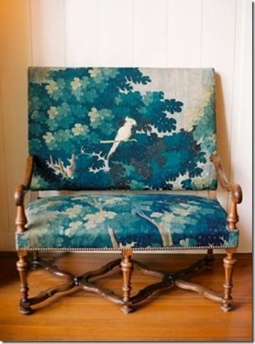 Inspiration for the chair I just bought. Check it out at california-poppies.net