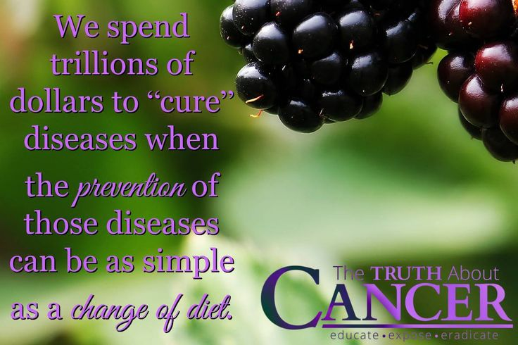 What we ingest makes a HUGE difference to our health. The prevention of diseases can be as simple as a change of diet. // The Truth About Cancer