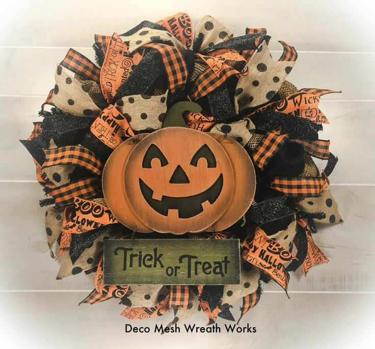 Etsy Halloween Decorations 218 best wreaths for sale - deco mesh wreath works images on