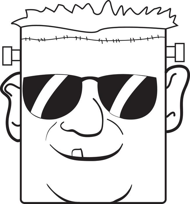 frankenstein face coloring page - 138 best coloring pages for kids images on pinterest