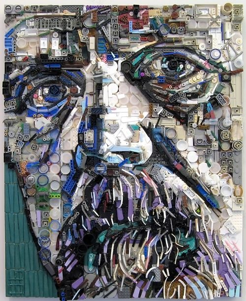 really interesting portraits done from found materials.  You have to look close to see how truly clever they are