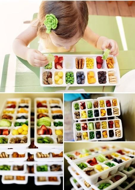 """Forget """"Toddler Lunch"""", this would make a fantastic Megan Lunch!!  TRAY CONTENTS: Edamame – Strawberries – Cucumbers – Pretzels – Corn – Raspberries – Annie's Cheddar Bunnies – Meatballs – Organic Cheese Puffs – Peas – Blueberries – Cheese Cubes – Raisins – Vanilla Bear Cookies"""