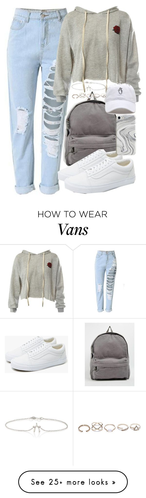 """Jet Set: Airport Style"" by smirnova-varya on Polyvore featuring Sans Souci, Buji Baja, Vans, Recover, GUESS, Jennifer Meyer Jewelry and airportstyle"