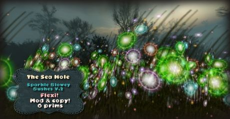 Second Life Marketplace - The Sea Hole - Sparkle Blowey Bushes / Flowers