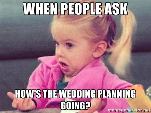 Managing RSVPs, Pinterest board weddings, spiders, oh my! Check out some of our favorite wedding memes that'll surely make you LOL!