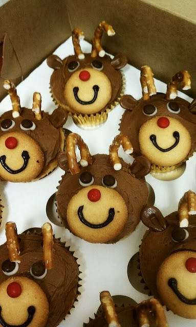 17 Best Ideas About Reindeer Cupcakes On Pinterest