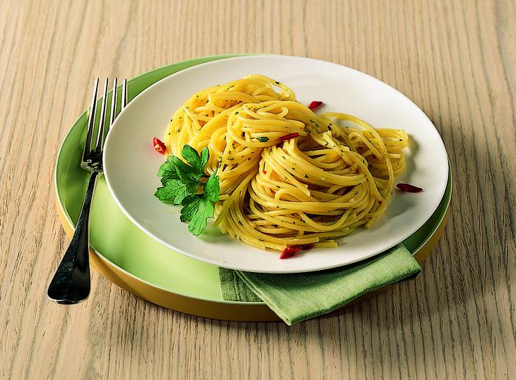 Spaghetti olio, aglio e peperoncino