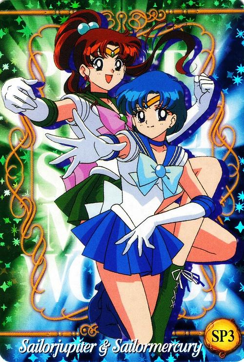 Sailor Jupiter & Sailor Mercury.