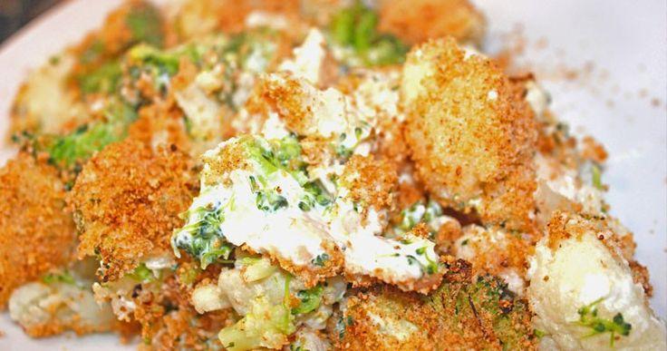 Ovenschotel: Cheesy Broccoli-Bloemkool met Kip - A bite of cravings - gezonde recepten, inspiratie en lifestyle - koken, bakken en andere creaties - leuke weetjes voor in de keuken - foodblog -
