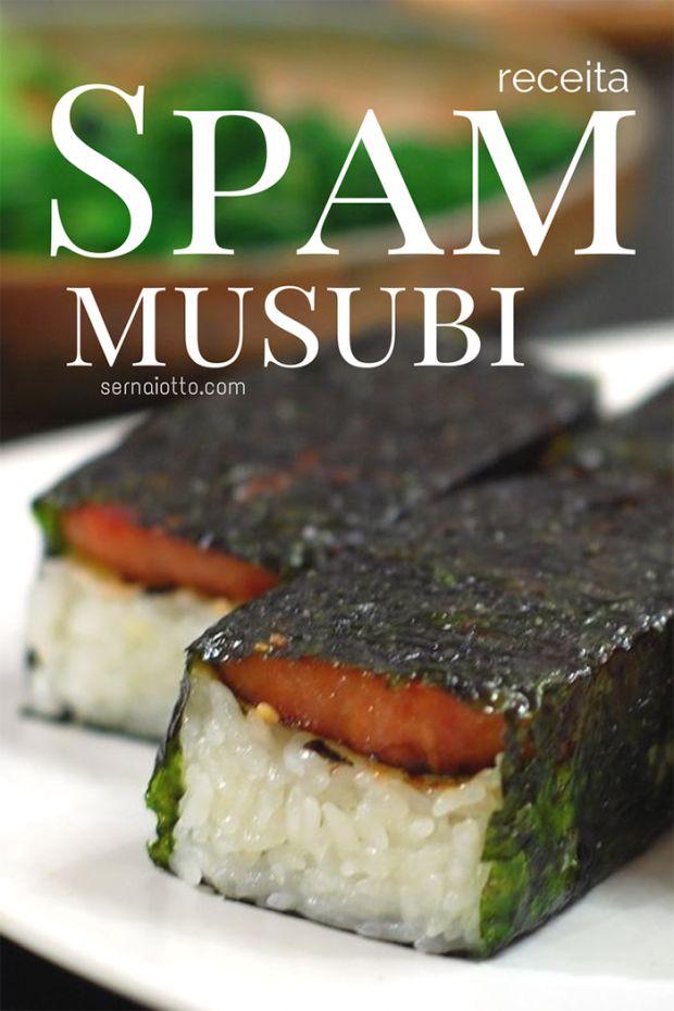Receita para spam musubi - um delicioso snack havaiano!