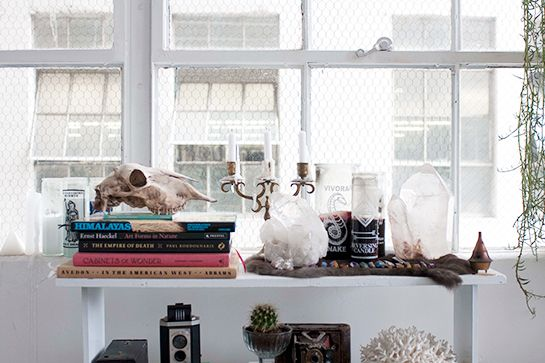 """Studio Stalker: Where Jewelry Magic Happens #refinery29  http://www.refinery29.com/ax-apple-studio#slide13  What are your favorite places to go antiquing in L.A.? """"I love the Long Beach flea market. It's probably my favorite of the L.A. flea markets. It's a little smaller and more curated than the Rose Bowl. I also do the Rose Bowl, but it's kind of overwhelming to me. Long Beach's flea market is definitely a little bit more expensive, but I think it's worth it because it's smaller and more…"""