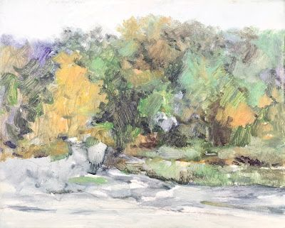 Michel McNinch | Visual Artist | Educator: Plein Air Painting - Rainy River Mondays I and II
