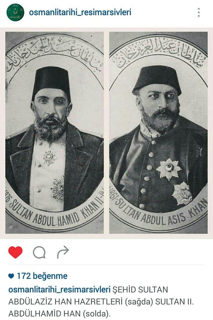 32. Osmanlı Padişahı, 96.İslam Halifesi Sultan Abdülaziz Han Hazretleri ve Sultan ll.Abdülhamid Han
