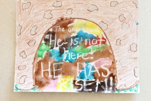 Where is Jesus? Resurrection, He is Risen, Easter - Magic Watercolor Art - I Can Teach My Child!
